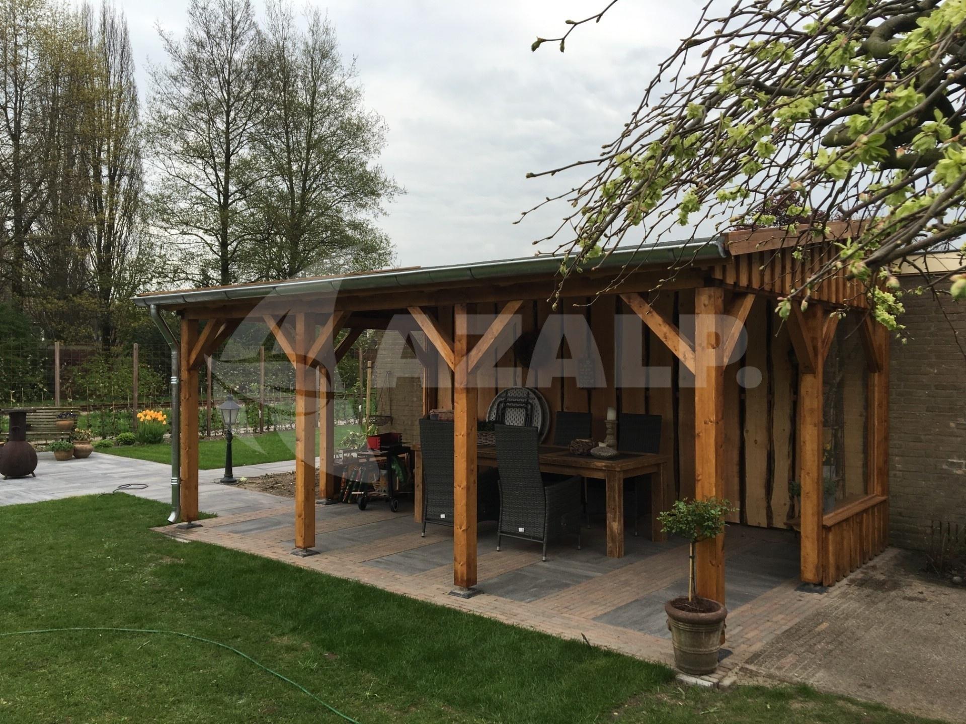 Azalp Terrassenuberdachung Holz 350x250 Cm Kaufen Bei Azalp De