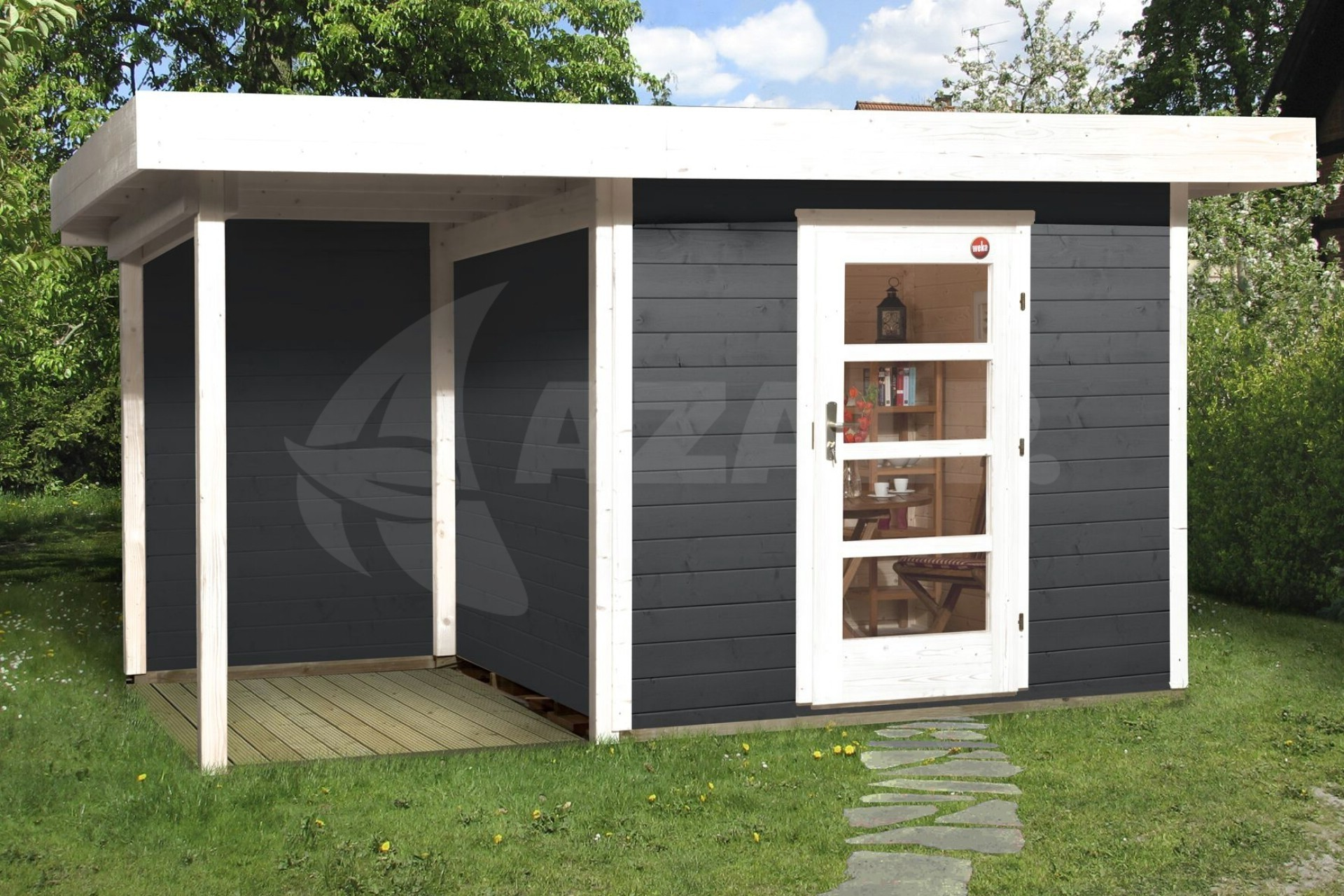 weka designhaus 172 a gr 2 385x300 cm anthrazit kaufen. Black Bedroom Furniture Sets. Home Design Ideas