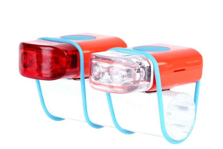 IKZI-Light Led set voor+achter elastiek bev. (diverse kleuren)
