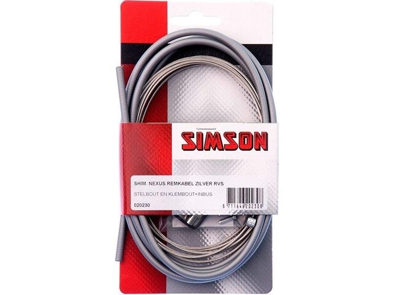 020230 Simson Remkabelset Shimano Nexus Rollerbrake grijs