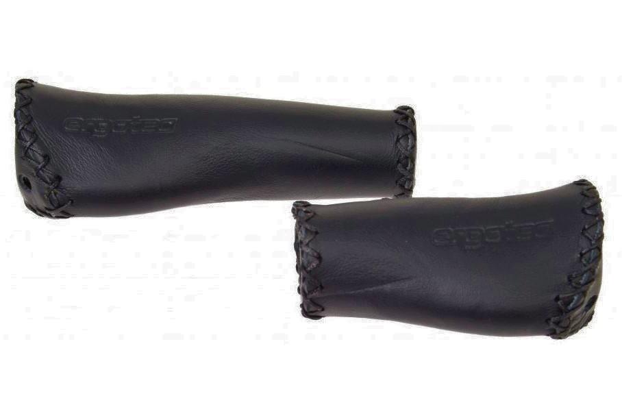 Fietshandvatten Ergotec Set Handvatten Monaco Leder zwart