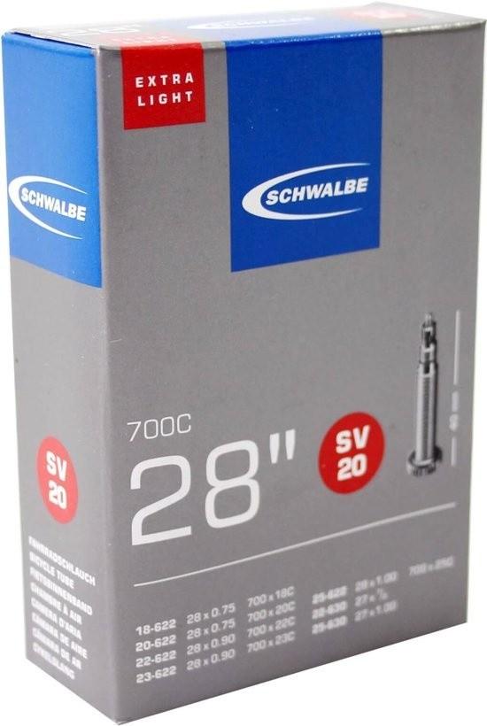 Schwalbe binnenband SV20 Extra Light 28 inch 18/25-622/630