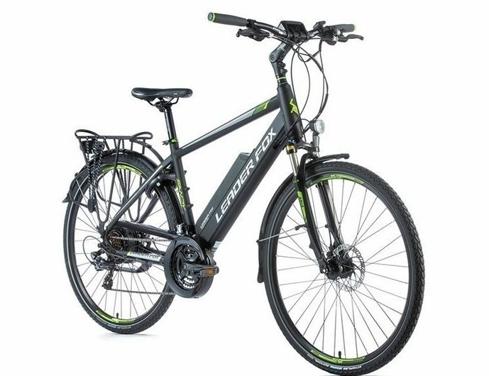 Leader Fox E-Bike Sandy heren 21V model 2019 met achterwielmotor