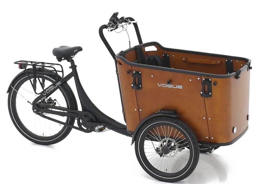 Vogue E-Bike Bakfiets Superior 3 Deluxe met middenmotor