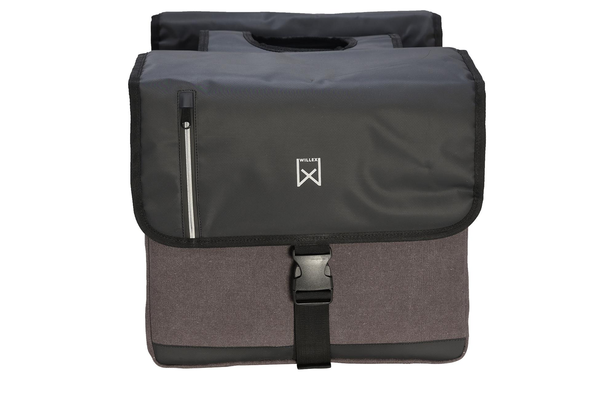 Willex Dubbele Businesstas 40 liter grijs/zwart