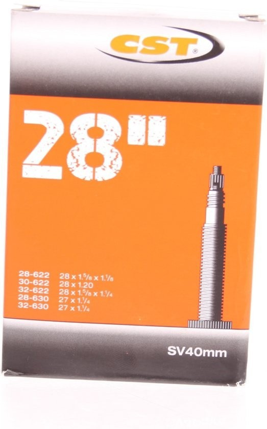 CST - Binnenband Fiets - Frans Ventiel - 40 mm - 27/28 x 1 1/4 - 1/8