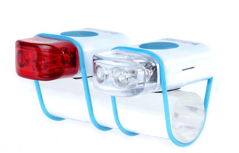 IKZI-Light Stripties LED set elastiek bev. wit/blauw