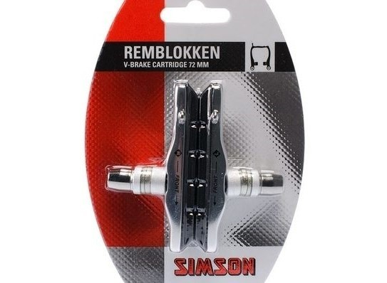 020200 Simson Cartridge Remschoenen V-Brake 72mm