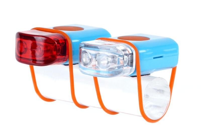IKZI-Light Stripties LED set elastiek bev. blauw/oranje