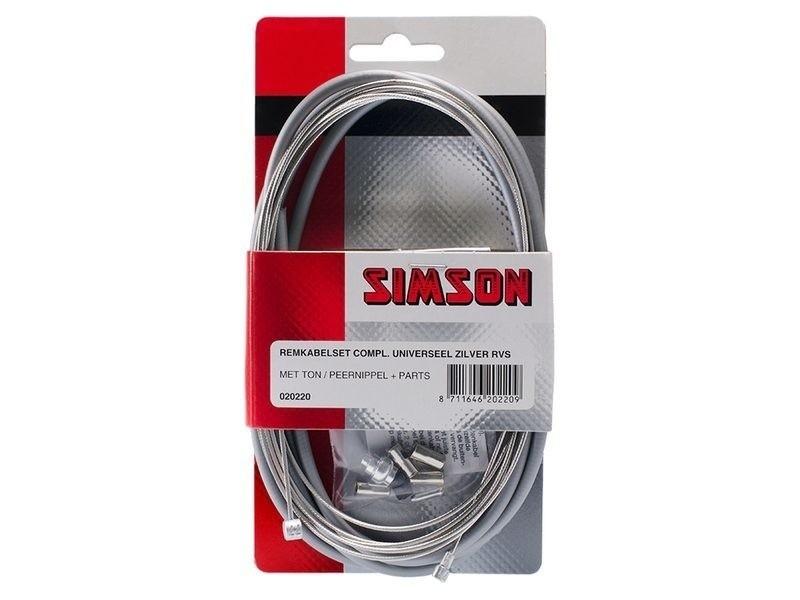 Simson Remkabelset universeel zilver 020220