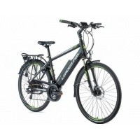 Foto van Leader Fox E-Bike Sandy heren 21V model 2019 met achterwielmotor