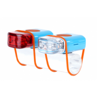 Foto van IKZI-Light Stripties LED set elastiek bev. blauw/oranje