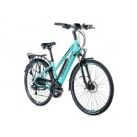 Foto van Leader Fox E-Bike Sandy dames 21V model 2019 met achterwielmotor