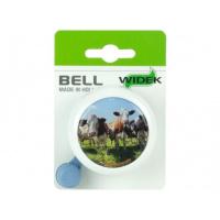 Foto van Fietsbel Nederland wit met koeien