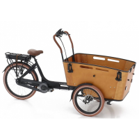 Foto van Vogue E-Bike Bakfiets Carry 3 met middenmotor