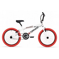 Foto van Royal Bugatti Tornado 20 inch Freestyle fiets wit rood