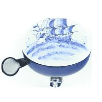 Foto van Bel Ding-Dong Delfts blauw zeilboot mat