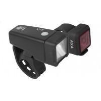 Foto van AXA Verlichtingsset Niteline T1 LED batterij zwart