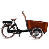 Foto van Vogue E-Bike Bakfiets Carry 7V drie wielen met middenmotor