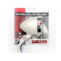 Foto van 020772 Simson Batterijkoplamp Holland wit 3 LED
