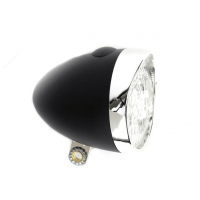 Foto van IKZI-Light Retro batterijen 3xLed koplamp zwart
