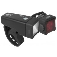 Foto van AXA Verlichtingsset Niteline T4-R LED USB oplaadbaar