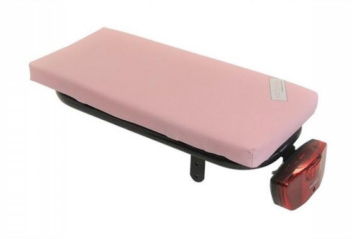 Hooodie Cushie bagagedragerkussen Baby Roze