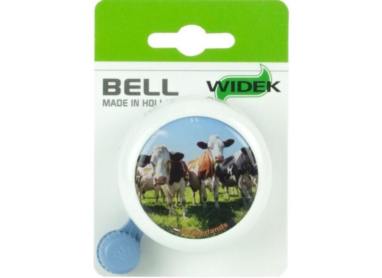 Fietsbel Nederland wit met koeien