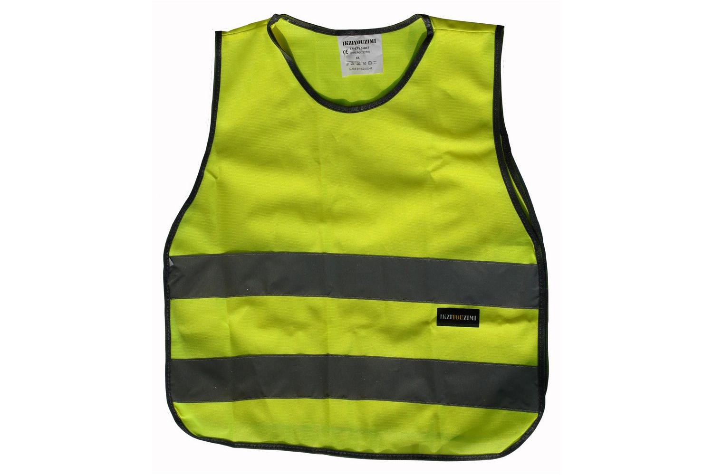 IKZI-Light Reflect Shirt XS geel Veiligheidsvest junior