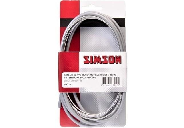 Simson Remkabelset RVS Shimano Rollerbrake grijs 020232