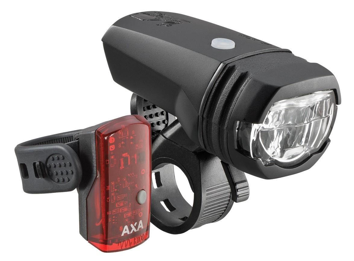 AXA Verlichtingsset Greenline LED 50 Lux USB-Oplaadbaar