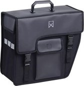 Willex shopper afgeschuind rechts 17 liter zwart/matzwart