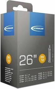 Schwalbe DV12 - Binnenband Fiets - Hollands Ventiel - 40 mm - 26 x 1 - 1/4 - 1 - 3/8 - 1.75