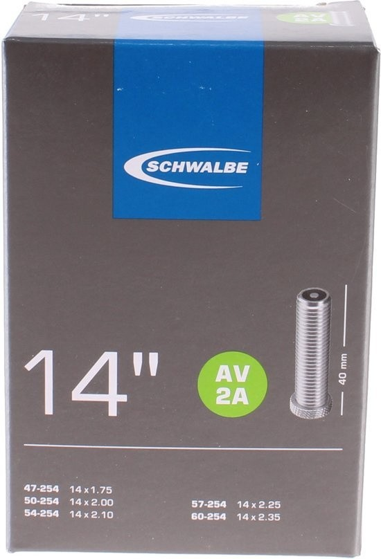 Schwalbe binnenband AV2A 14 inch AV 47-60 / 254
