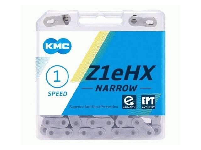 KMC Z1eHX Ketting 1/2-3/32 zilver 128 schakels (electrische fiets)