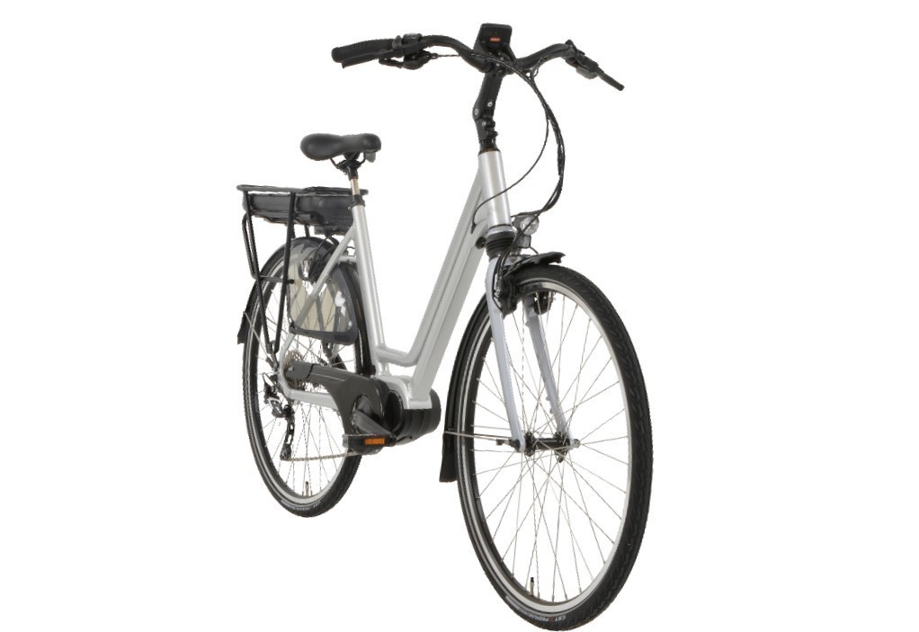 Rivel Seattle E-bike 10V Deore Zilver met middenmotor