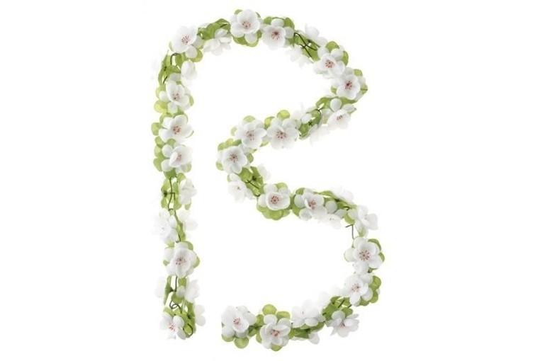 Basil Flower Garland wit bloemenslinger