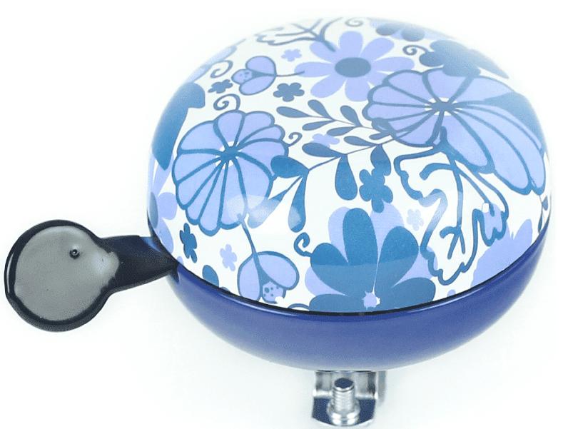 Bel Ding-Dong Delfts blauw bloemen glans