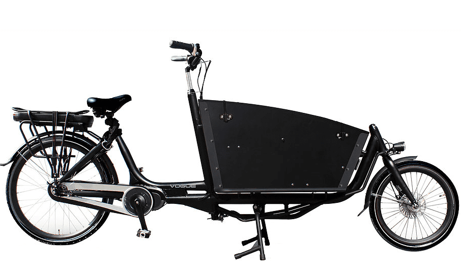 Vogue E-Bike Bakfiets Carry 7V twee wielen met middenmotor