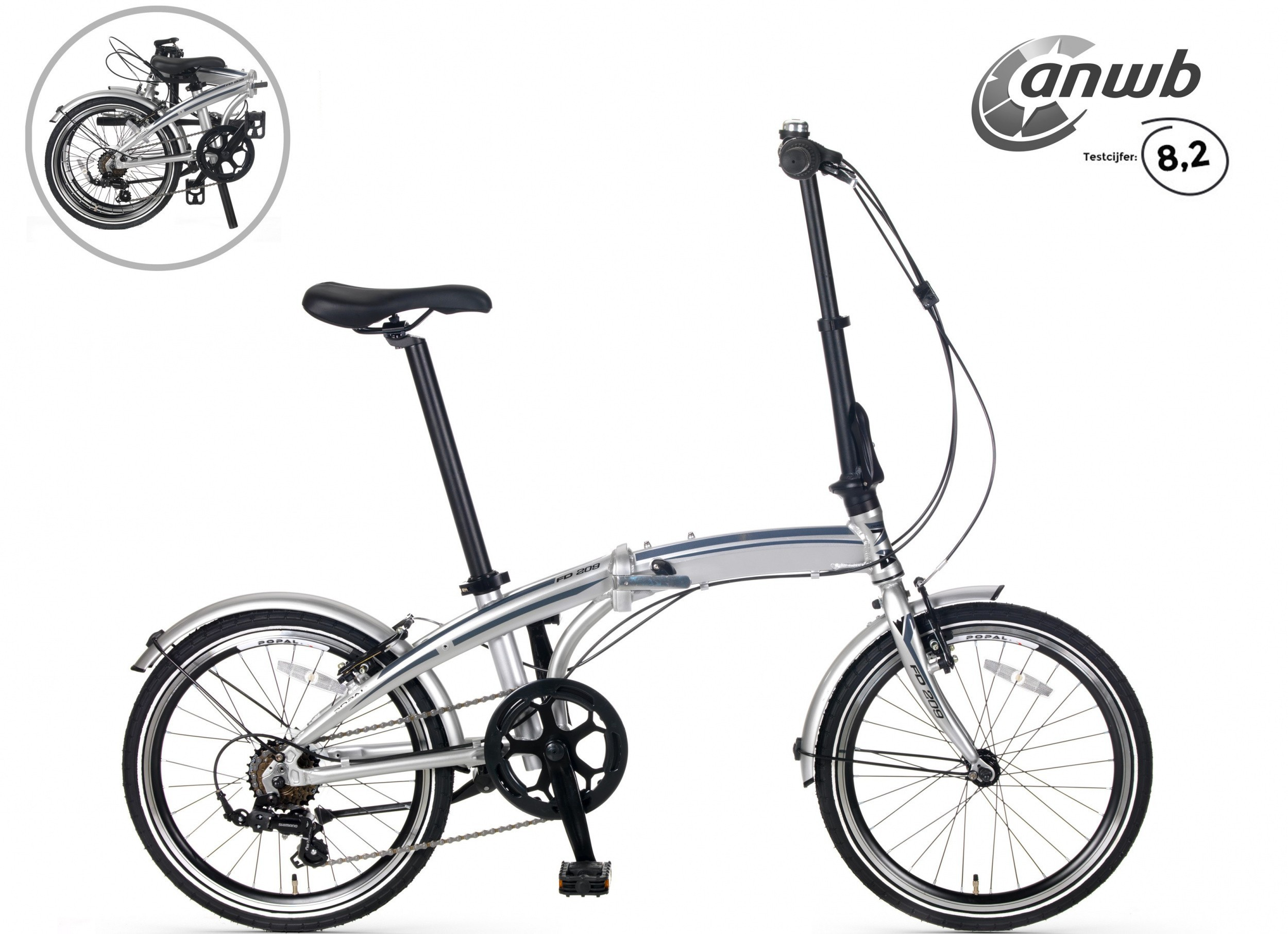 Popal Subway F209 vouwfiets 20 inch 6V