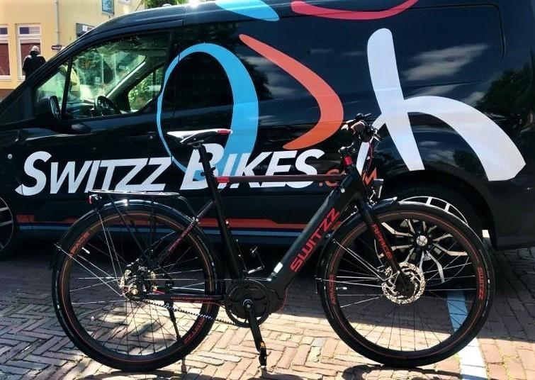 Switzz Apace E-Bike heren 8V model 2019 met middenmotor