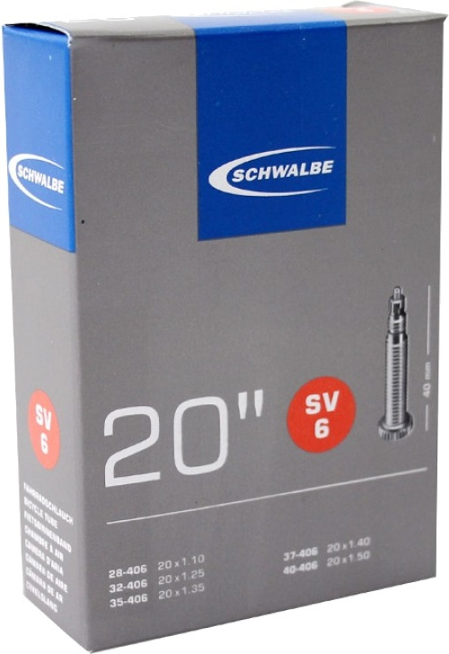 Schwalbe - Binnenband Fiets - Auto Ventiel - 40 mm - 20 x 1 1/8 - 1.50