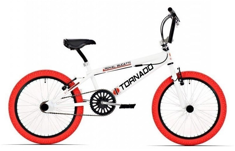 Royal Bugatti Tornado 20 inch Freestyle fiets wit rood