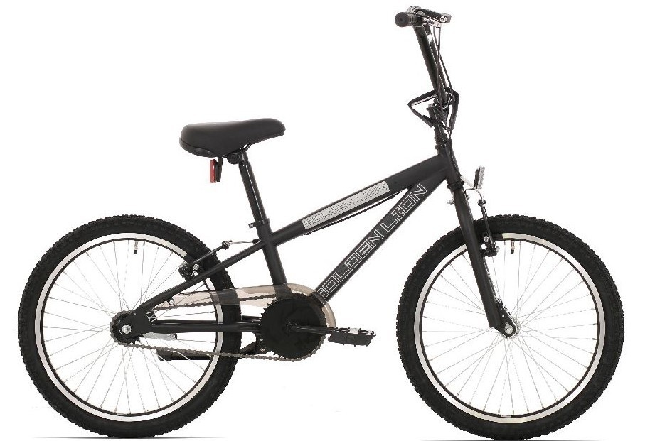 BMX 20 inch Golden Lion mat zwart