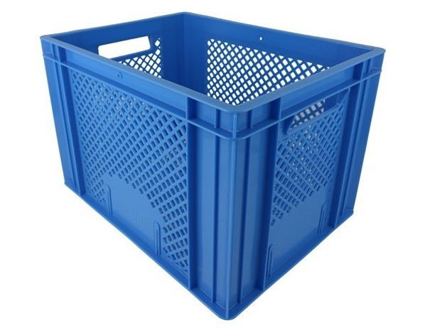 Krat middel blauw 30x40x27cm