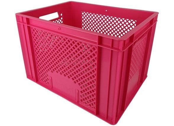 Krat middel roze 30x40x27cm