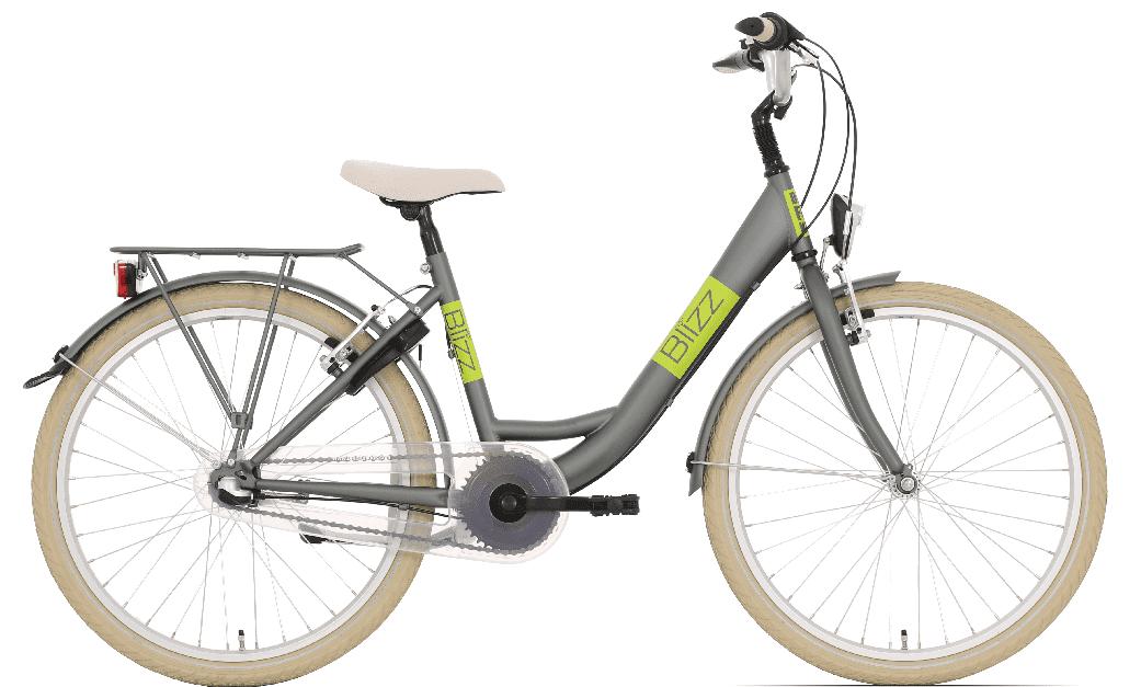 Bike Fun Blizz 3 versnellingen 24 inch mat groen