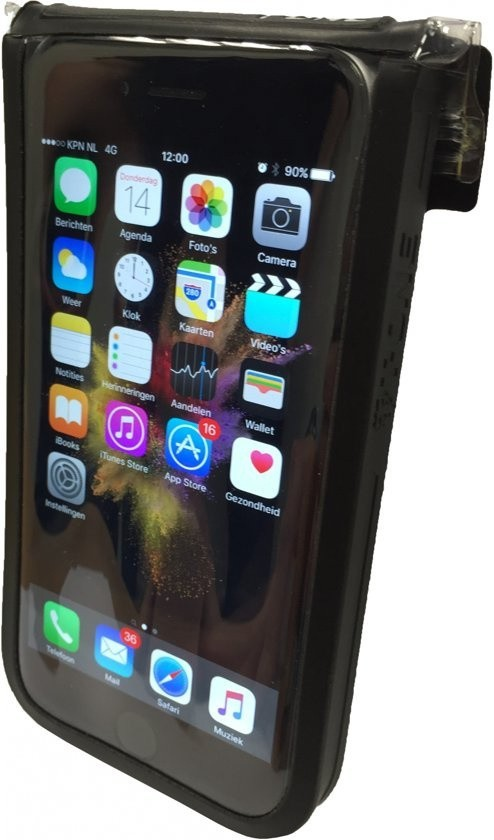 T-one Telefoonhoes Met Houder 15 Cm Zwart