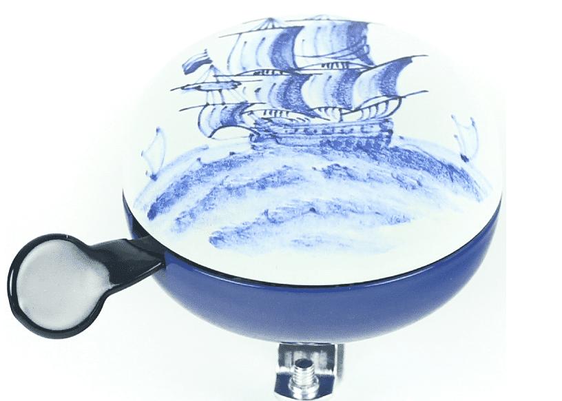 Bel Ding-Dong Delfts blauw zeilboot mat