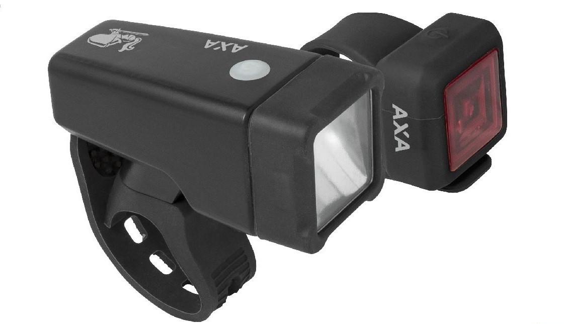 AXA Verlichtingsset Niteline T1 LED batterij zwart